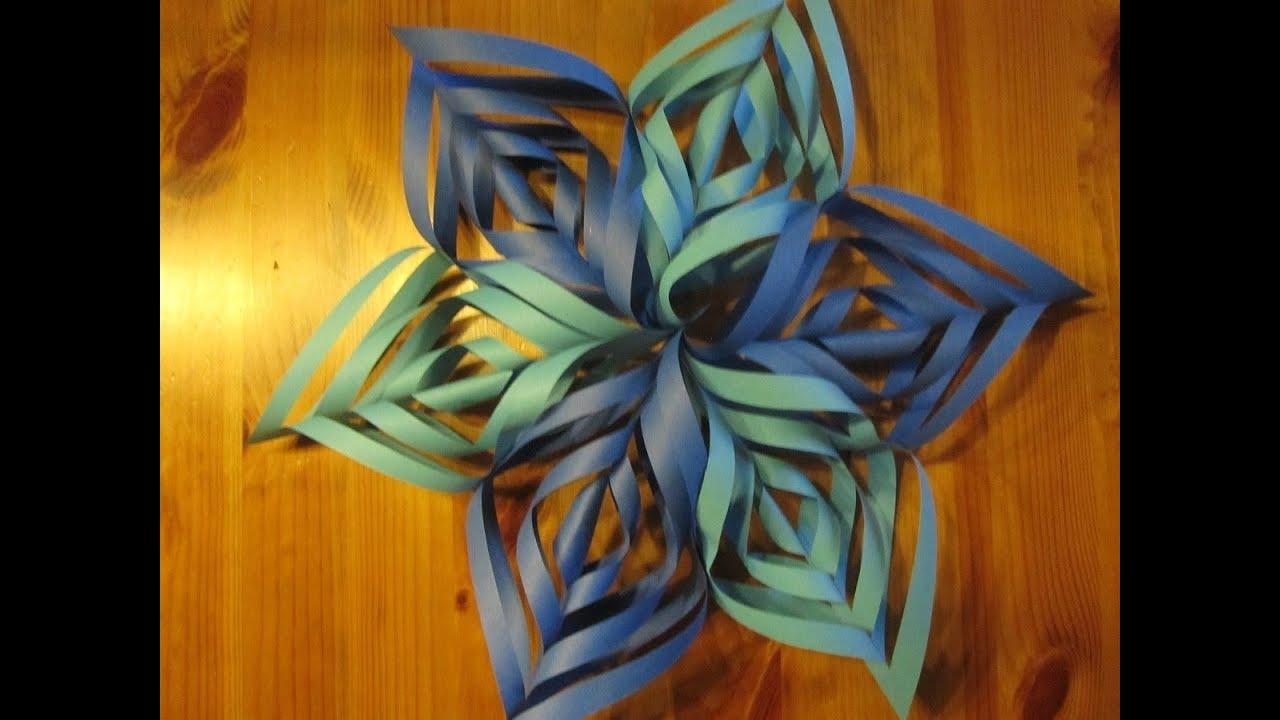 WEIHNACHTSBASTELN: Papierstern Ornament Basteln