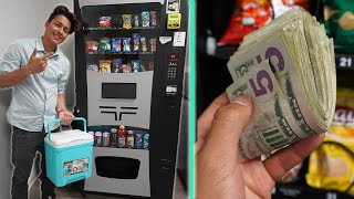 Morning Routine Of A Vending Machine Business Owner