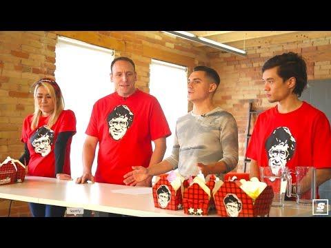 World ranked eaters Joey Chestnut, Matt Stonie, and Miki Sudo visit theScore