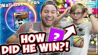 MY SON TRIES to UNLOCK the WALL BREAKERS! CAN HE DO IT as LEVEL 8?
