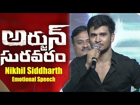 Nikhil-Siddharth-Emotional-Speech-At-Arjun-Suravaram-Pre-Release-Event