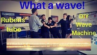 The best earthquake waves demonstration. DIY wave machine and Rubens' tube