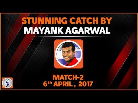 Mayank Agarwal Stunning Catch Mumbai Indians Vs Rising Pune Supergiant