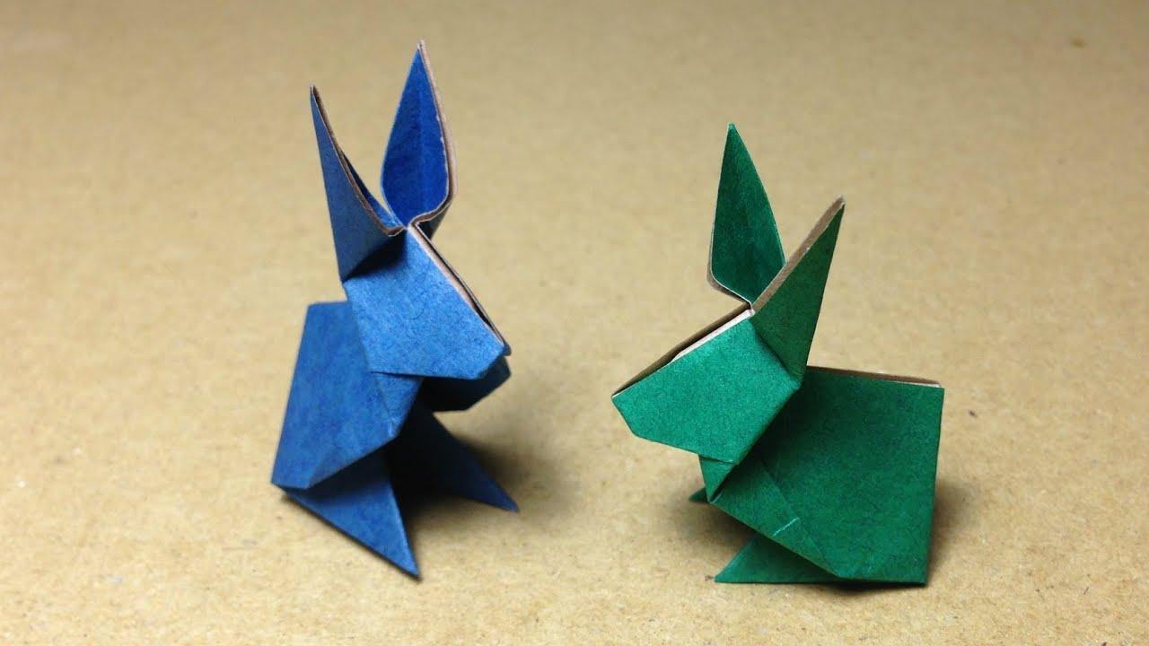 すべての折り紙 かんたん折り紙 : How to Make Origami Rabbit