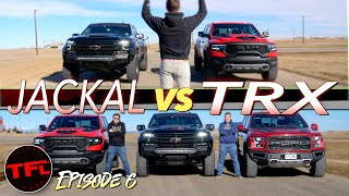 Can the 6.2-liter Supercharged Chevy Jackal Finally CRUSH The Ram TRX In A Drag Race?