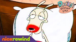 Rocko Gets Hit By The Flu 🤒 | Rocko's Modern Life | NickRewind