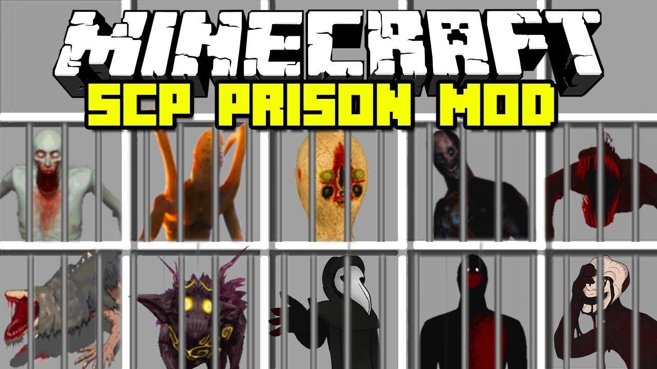 Minecraft SCP LOCKDOWN PRISON MOD / SCP 096, SCP 173, SCP 106 !! Minecraft  Mods