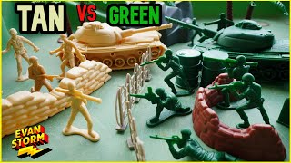 Father Son Play Plastic Army Men School Break True Heroes and Adventure Force