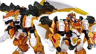 DinoCore Evolution 2 Mega D-Fighter Dragon! Defeat dinosaur and save Robocar Poli! #DuDuPopTOY