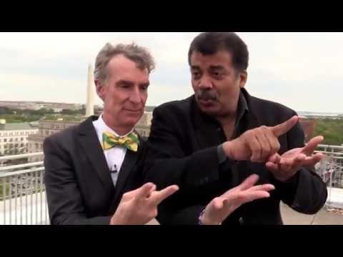 Bill Nye & Neil deGrasse Tyson on a Roof