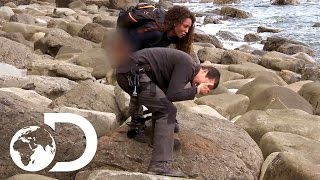 Mel B Pees on Bear's Hand! | Running Wild with Bear Grylls