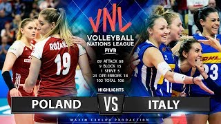 Poland vs. Italy | Highlights | Women's VNL 2019