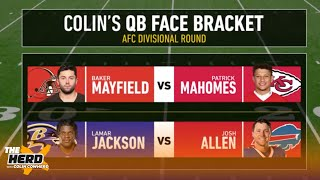 Colin Cowherd makes new Quarterback Face Bracket predictions | NFL | THE HERD