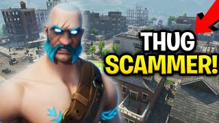 Crazy Thug Scammer Loses Entire Inventory! (Scammer Get Scammed) Fortnite Save The World