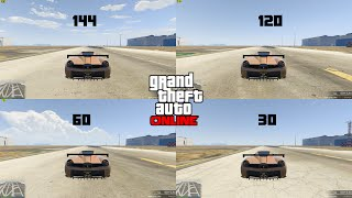 GTA V: 30 vs 60 vs 120 vs 144 FPS CAR SPEED RACE (HIGHER FPS gives you a racing advantage)