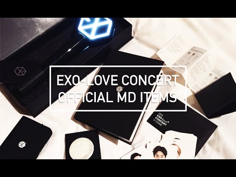 EXO-Love Concert MD: Lightstick, Photocards, Postcards, Button