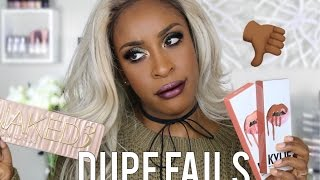 Dupe FAILS! (And Other Better Makeup Dupe Comparisons)