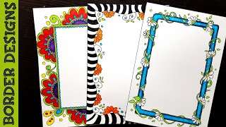 Easy Flower Border Designs On Paper Border Designs Project