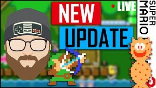 Super Mario Maker 2 NEW UPDATE! - Let's Build a Level (RECORDED LIVE)