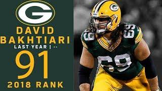 #91: David Bakhtiari (OT, Packers) | Top 100 Players of 2018 | NFL