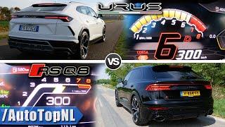 Lamborghini URUS vs Audi RSQ8 *0-300KM/H* ACCELERATION POV & SOUND by AutoTopNL