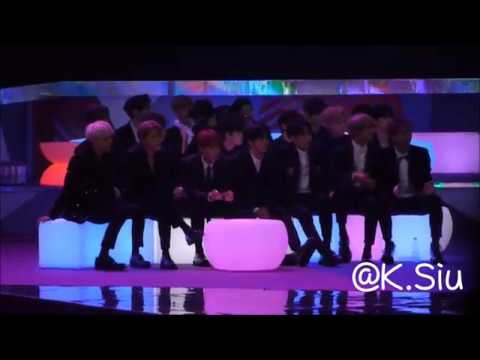 [FANCAM] 171201 2017 MAMA BTS and Wanna One's Reaction to Taemin