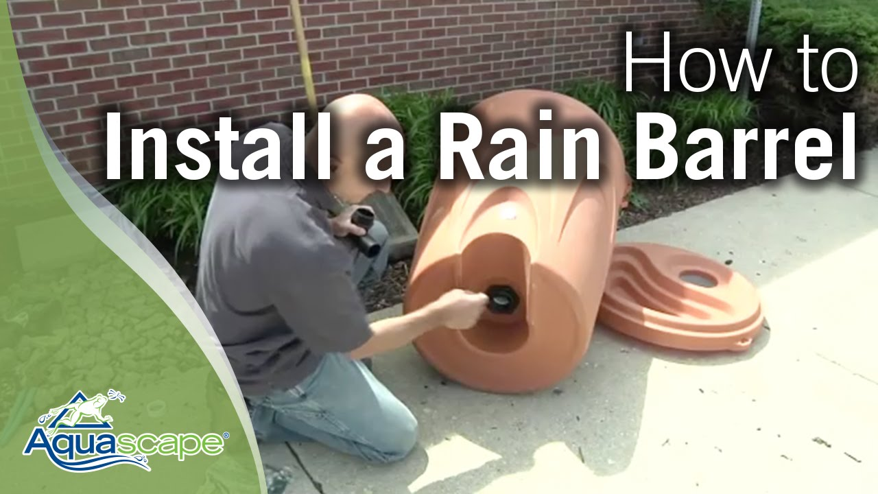 How To Install a Rain Barrel by Aquascape