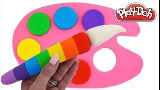 Learn Colors Play Doh Mickey Minnie Mouse Ice Cream Molds Kinder Joy