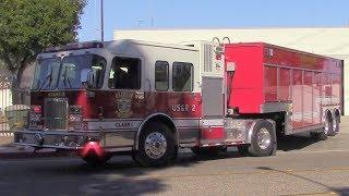 Anaheim Fire & Rescue USAR 2, Truck 2, & Engine 2 Responding