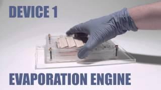 Une voiture miniature tire son énergie de l'évaporation de l'eau