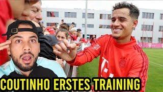 Philippe Coutinho erstes Training beim FC Bayern!