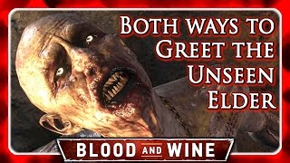 Witcher 3 🌟 BLOOD AND WINE 🌟 Both Choices when meeting the Unseen Elder