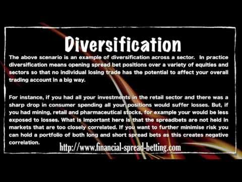 Spread Betting and Diversification