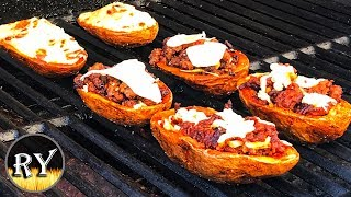 Crispy Meaty Potato Skins With Three Simple Fillings