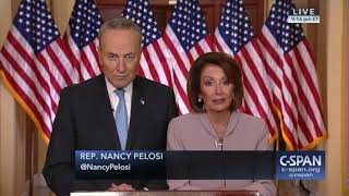 Speaker Nancy Pelosi and Senator Chuck Schumer respond to President Trump (C-SPAN)