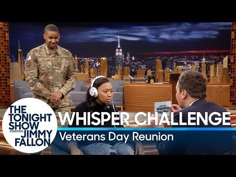 Whisper Challenge Veterans Day Reunion Surprise
