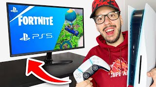 PLAYING PS5 FORTNITE! (Ultimate Gaming TV)