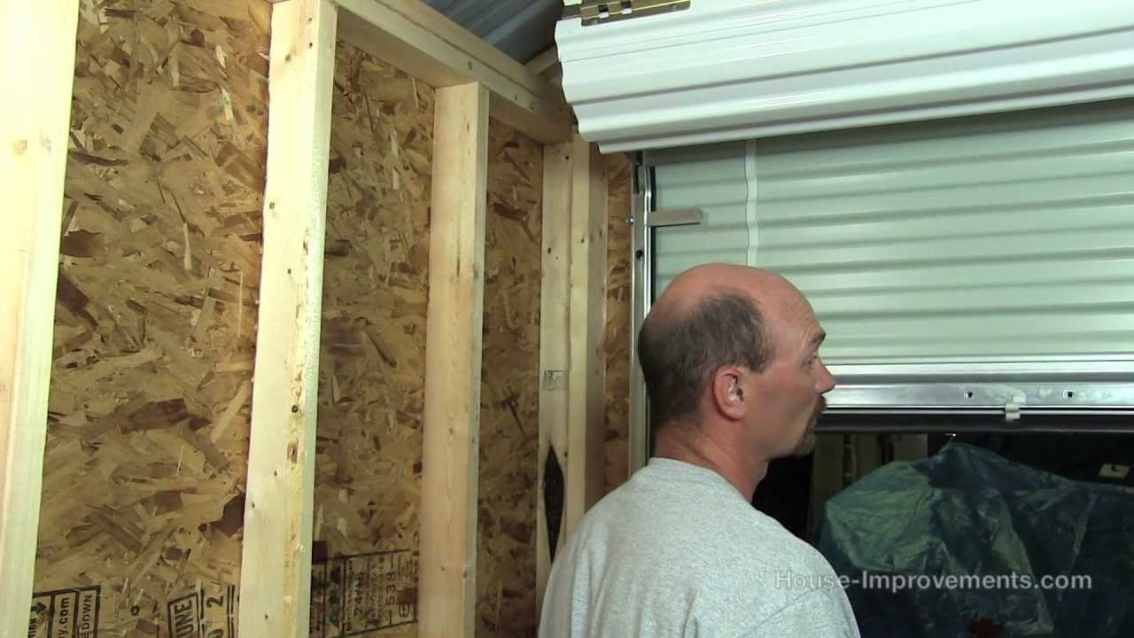 How To Build A Shed Part 5 Installing A Metal Roll Up