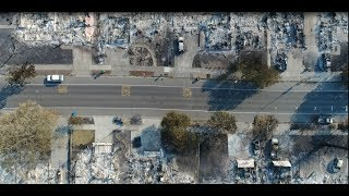 Santa Rosa Fire | Complete Coffey Park Fire Damage (Up-Close Drone Fly Over) HD Video Footage