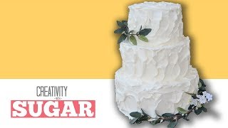 HOW TO MAKE RUSTIC BUTTERCREAM WEDDING CAKES TUTORIAL BY CREATIVITY WITH SUGAR