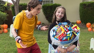 How To Get More Candy Than Your Sibling Trick or Treating **Halloween Challenge**