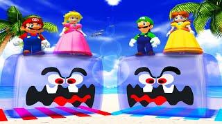 Mario Party 4 - Minigames - Mario vs Peach vs Luigi vs Daisy (Master CPU)