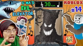 ROBLOX Grandma's EVIL Elevator not NORMAL w/ SHARK TORNADO | FGTEEV Duddy #14 (Gameplay Roleplay)