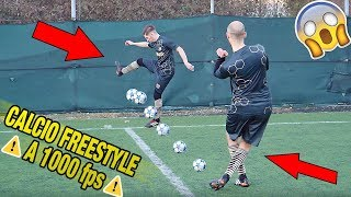 COLPIRE DIGINHO a 1000 fps - Calcio Freestyle in SLOW MOTION