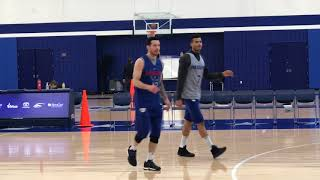 Sixers' Markelle Fultz works on shot in practice