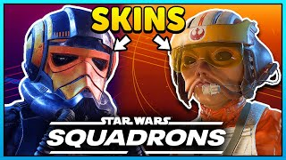 ALL Star Wars Squadrons Skins Customization! (Ships + Pilots)