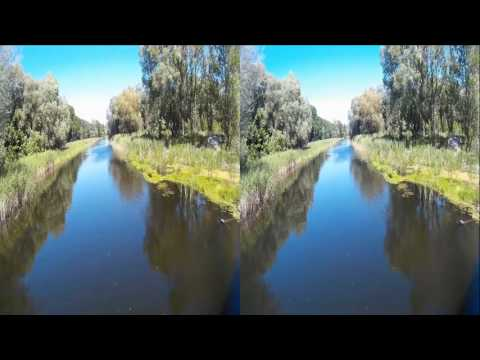 On Bridge ( Second part ) ! Natural sounds of Nature  !  3D VIDEO