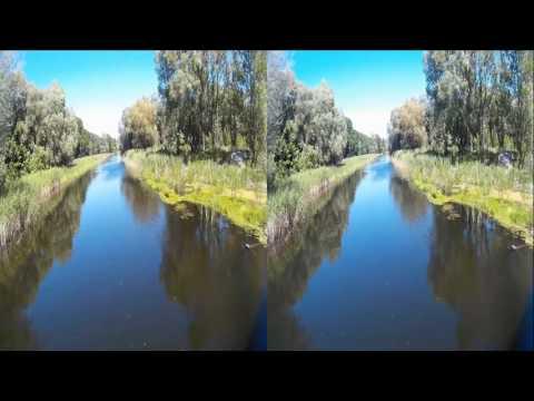 On Bridge ( Second part ) ! Natural sounds of Nature  !  3D VIDEO