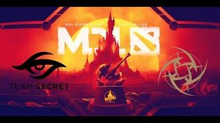 Dota 2 MDL Disneyland Paris Major Karsinnat Secret vs NiP Game 1