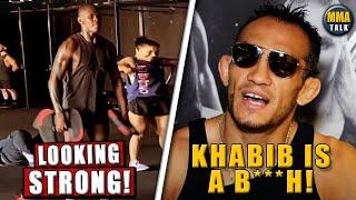 Israel Adesanya BULKING UP for LHW title shot, Tony Ferguson continues to trash Khabib, Dana White